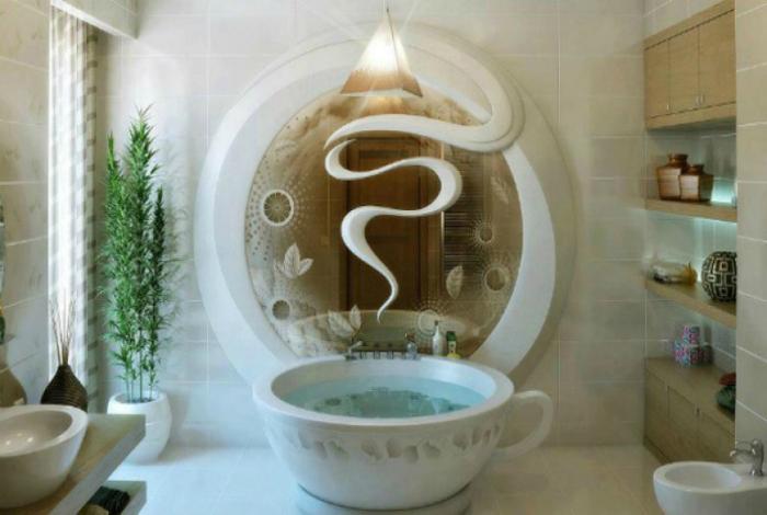Ванна в виде кофейной кружки.
