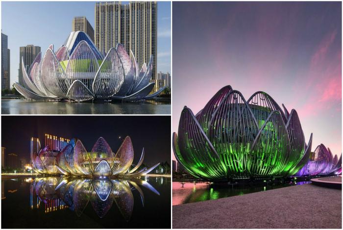 Выставочный центр Lotus в Чанчжоу, Китай.