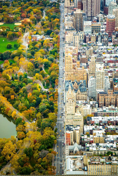 Потрясающий пейзаж Нью-Йорка, США.
