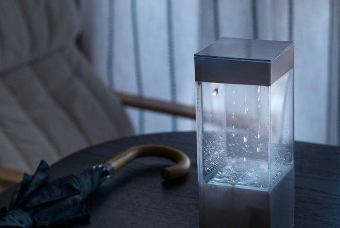 Прибор, разработанный Кеном Кавамото, который наглядно демонстрирует погоду на завтра.