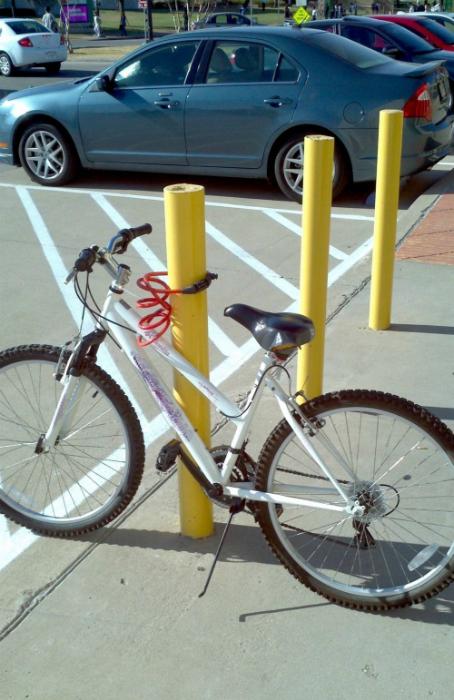 Кажется, кто-то ушел домой без велосипеда.