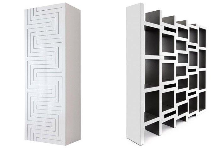 Складной книжный шкаф, размеры которого регулирует сам владелец.