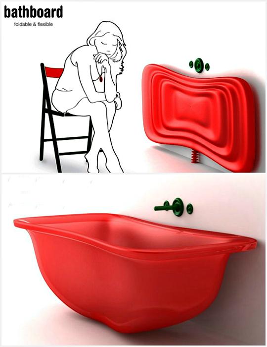 Складная силиконовая ванна.