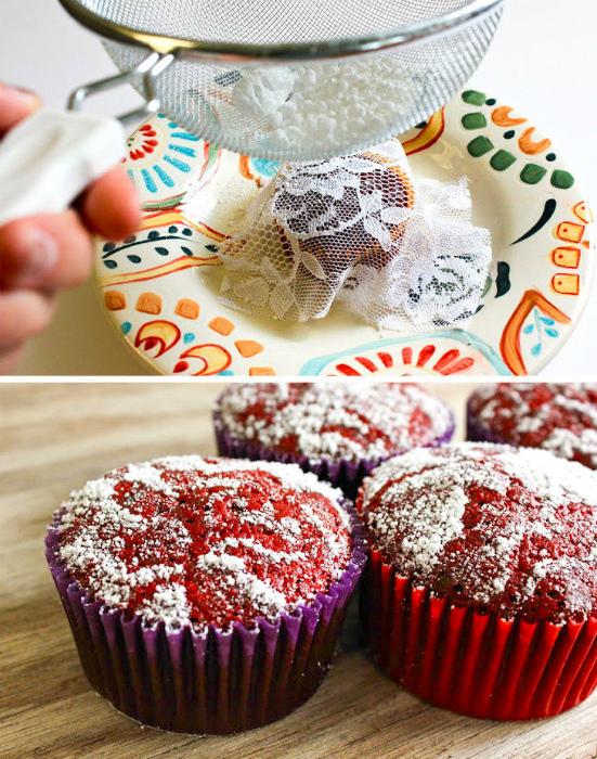 Ажурный декор кексов. | Фото: Едальня.