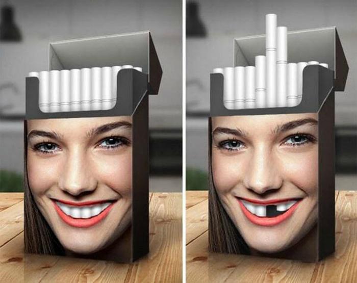 Дизайн пачки сигарет.