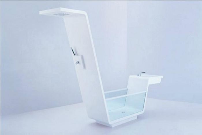 Ванная, совмещенная с душем и умывальником.