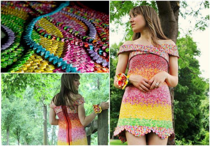 Платье из оберток от конфет от Эмили Сейлхэмер.