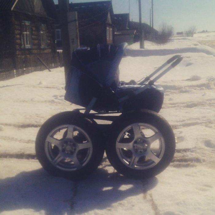 Модернизировал коляску.