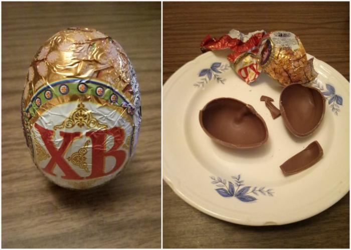 Шоколадное яйцо с «сюрпризом».