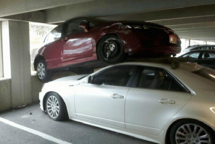 «А что, это не двухуровневая парковка? Тогда извините!»