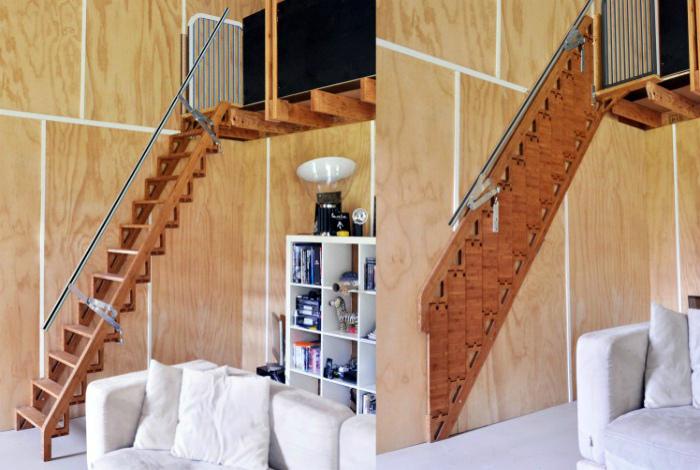 Складная лестница. | Фото: ИнформБюро.
