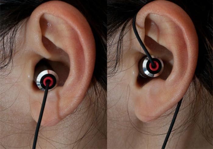 auriculares de vacío y auriculares-gotas.