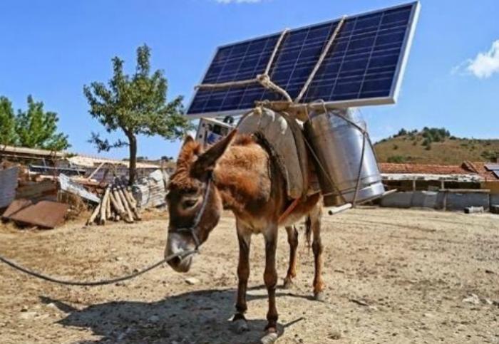 Солнечные батареи в Турции.