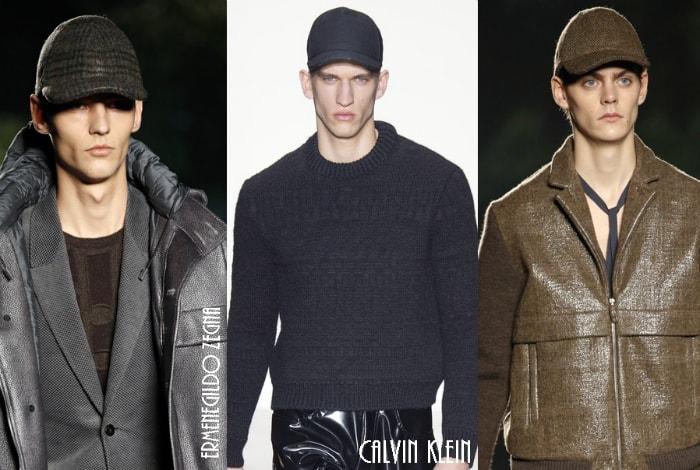 Мужские кепки в жокейском стиле.