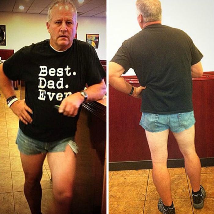 Коротенькие шорты.