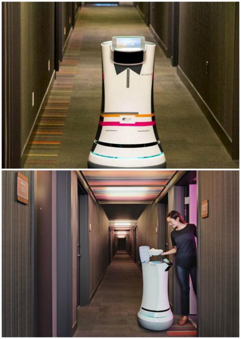 Роботизированный сотрудник отеля. | Фото: Туристический спутник.