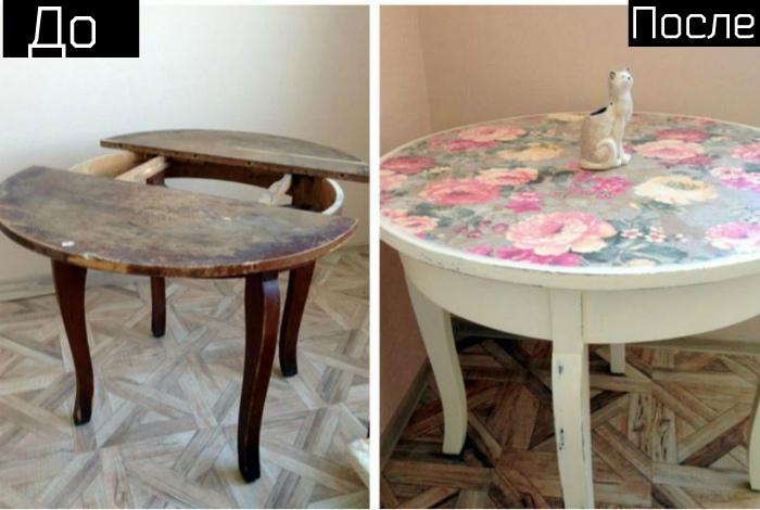 Преображение старого стола.