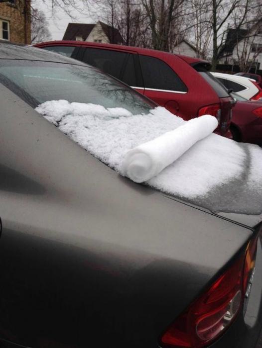 Рулончик снега.