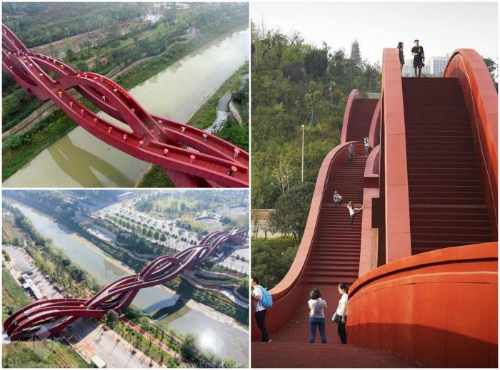 Пешеходный мост «Счастливый узел».