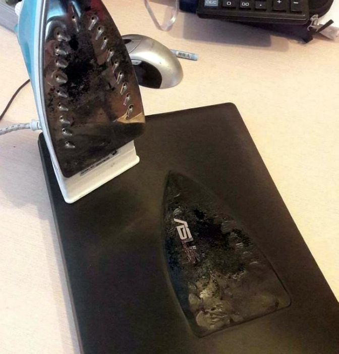 Вы видели когда-то расплавленный ноутбук? А мы на Novate.ru видели! | Фото: The Laughter Ward.