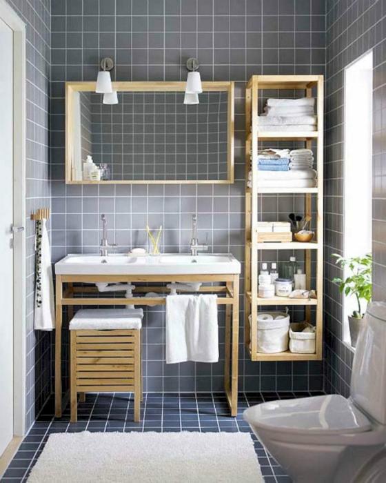 Симпатичный деревянный стеллаж. | Фото: Home and Apartment Ideas.