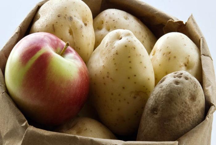 Хранение клубней картофеля.