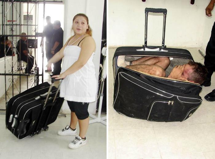 Человек в чемодане.