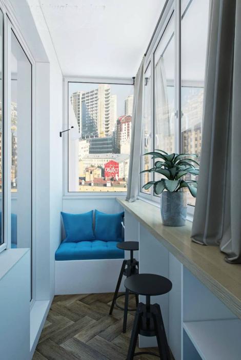 Минималистичный балкон в морском стиле. | Фото: Pinterest.
