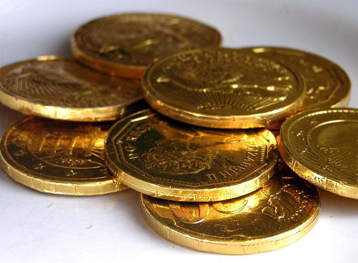Монетки из шоколада. | Фото: miifotos.com.