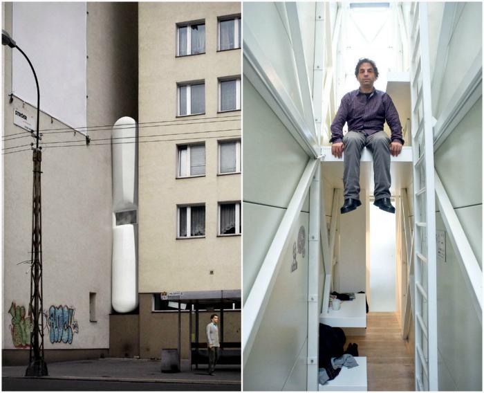 Самый узкий в мире дом. Варшава, Польша.