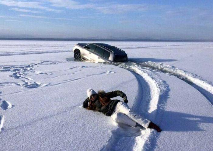 Катание по льду.