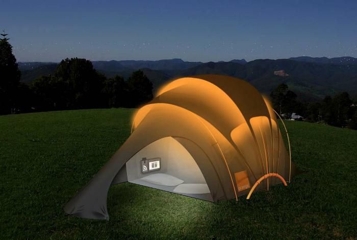 Палатка из солнечных нитей.