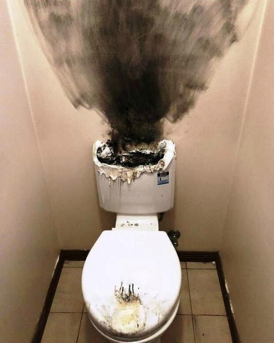 Несчастный случай в туалете.