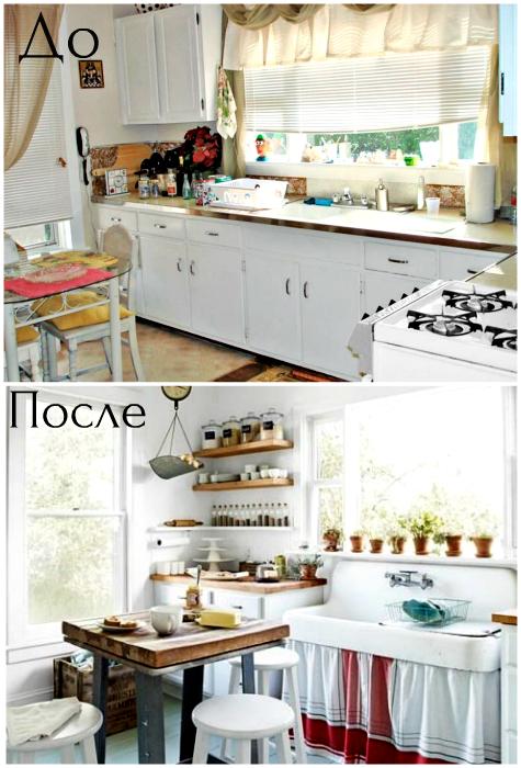 Стильная кухня в стиле кантри.