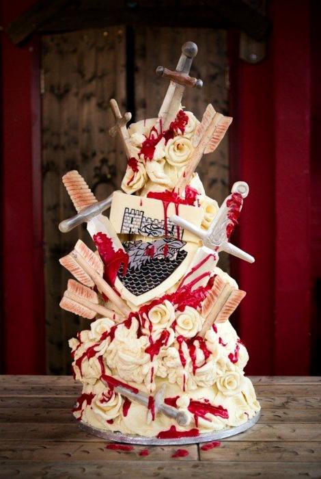 Торт в стиле «Игра престолов».