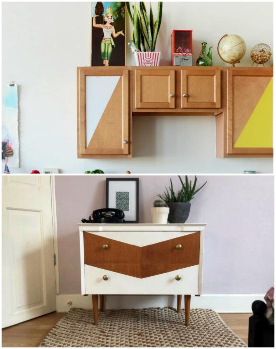 Аккуратная покраска мебели.