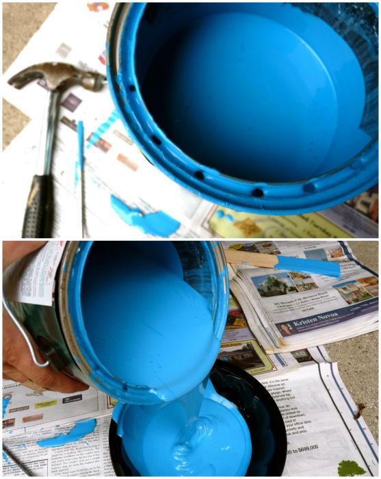 Лайфхак для экономичного использования краски.