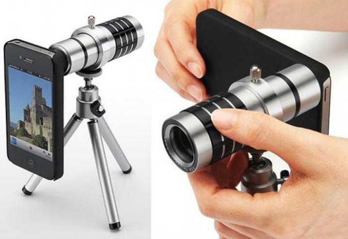 Портативный Zoom объектив с 12-кратным увеличением.