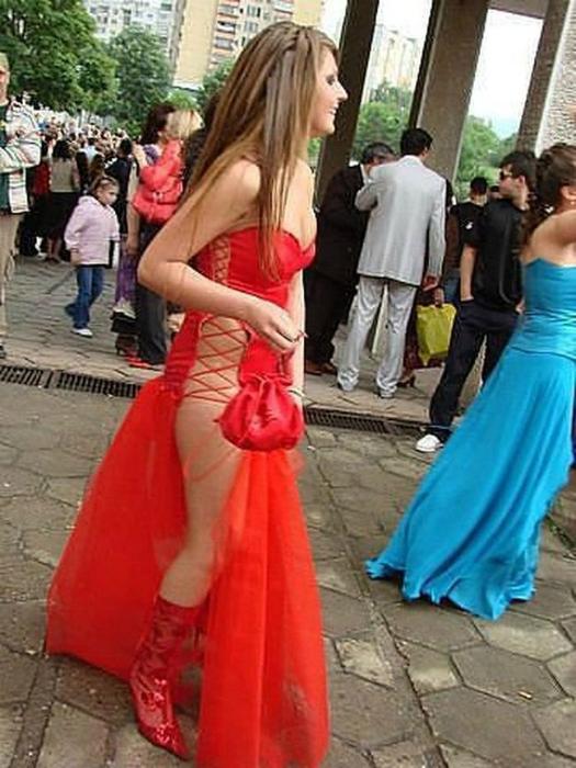Вызывающее платье.