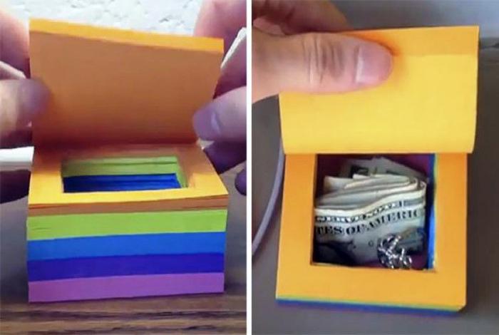 Тайник в упаковке стикеров. | Фото: Pinterest.