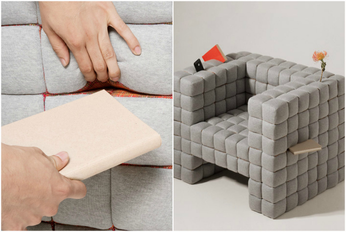 Кресло-система хранения. | Фото: dezeen.com, Homeli Design Blog: Architecture.