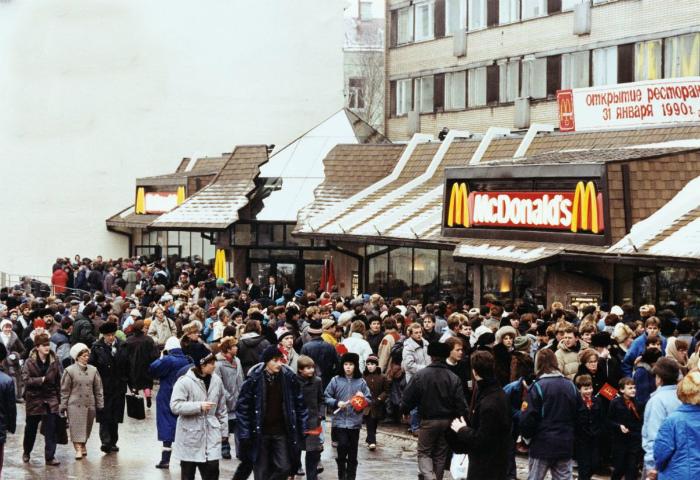 Открытие Макдональдса в Москве.