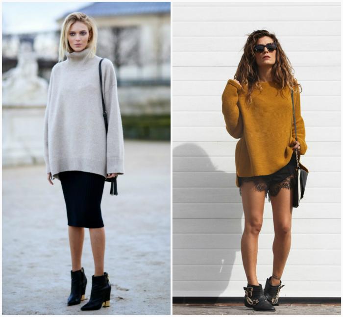 Объемный свитер.