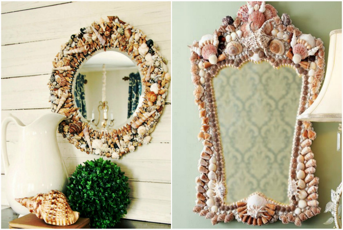Декор рамы для зеркала.