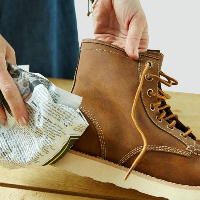 Соляные разводы на обуви.