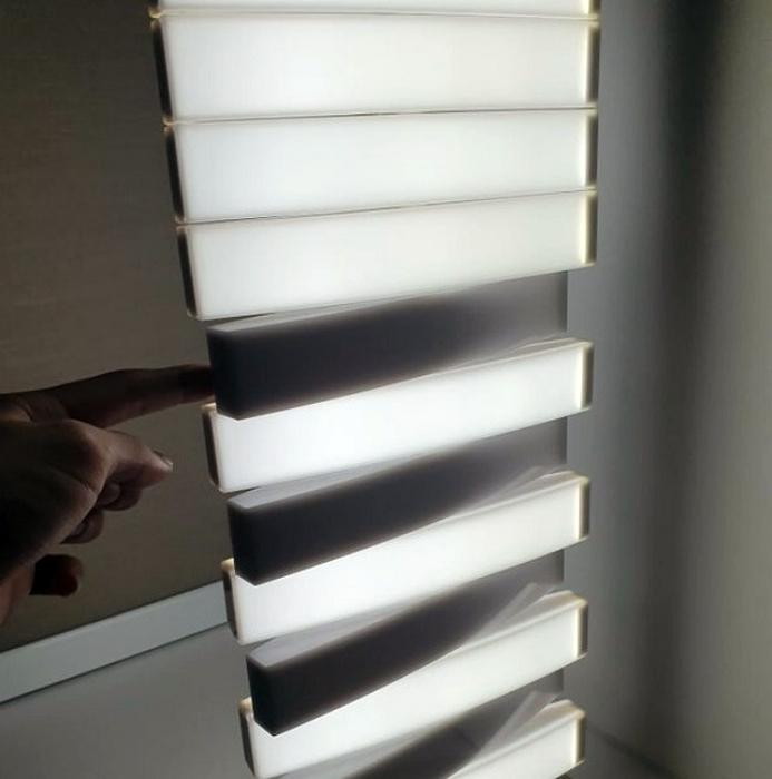 Полосатый светильник. | Фото: Триникси.