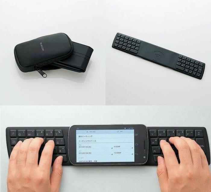 Компактная клавиатура TK-FNS040BK, предназначенную для планшетов и смартфонов на базе ОС Android.