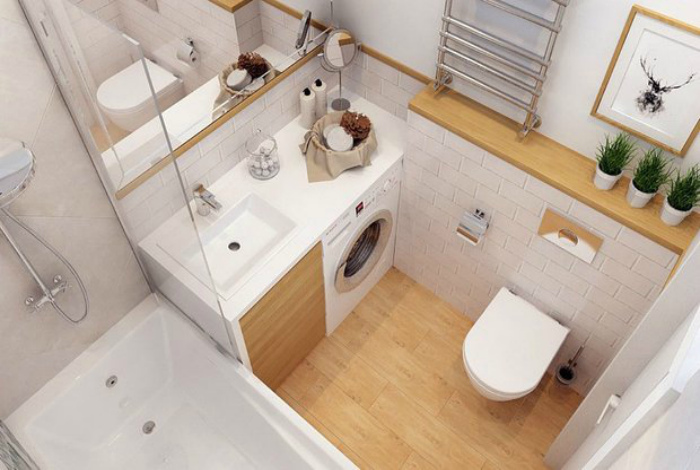 Стеклянная шторка в ванне. | Фото: InMyRoom.