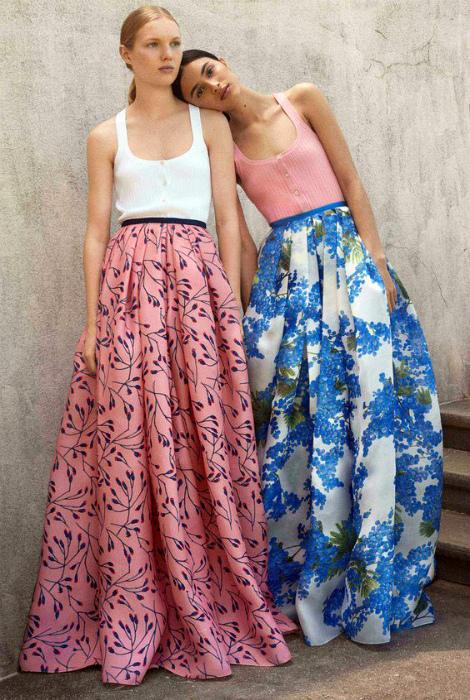 Легкие расклешенные юбки.
