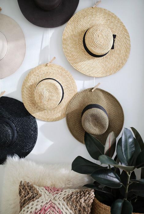 Хранение шляп и кепок. | Фото: Pinterest.